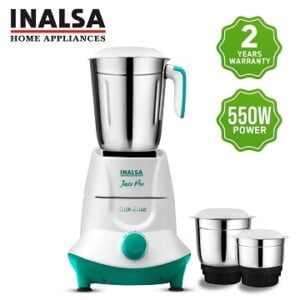 Inalsa Jazz Pro 550-Watt Mixer Grinder with 3 Jars for Rs.1399 – Amazon (Limited Period Deal)