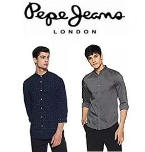 Pepe Jeans Men's Shirt Minimum 60% off @ Amazon
