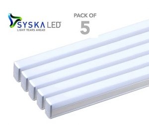 Steal Deal: Syska T5 Cool Day Light 18-Watt LED Tube Lights – Set of 5 for Rs.1263 (Rs.252 each) @ Pepperfry