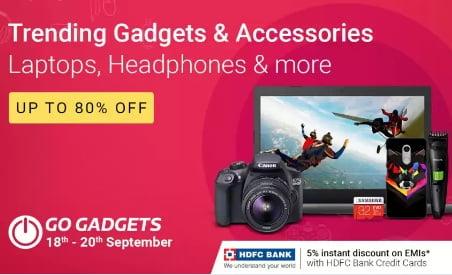 Flipkart Go Gadgets Offer: Upto 80% off on Accessories, Laptops, Grooming Appliances, Camera