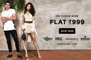 Jabong: Men's | Women's Clothing, Footwear & Accessories for Rs.999 (Limited Period Offer)