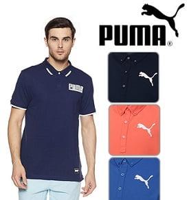 Puma Men's Polo T-Shirt Upto 80% off @ Amazon