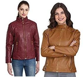 Women's Leather Jackets – 50% – 66% off @ Amazon