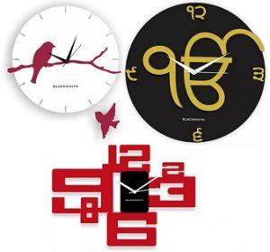 Blacksmith Wall Clocks Upto 81% off starts from Rs.299 – Flipkart