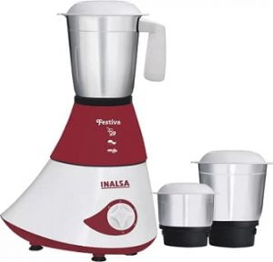 Hot Deal: Inalsa Festiva 750 W Mixer Grinder  (Maroon, White, 3 Jars) for Rs. 1,499 with 2 Yrs Warranty – Flipkart