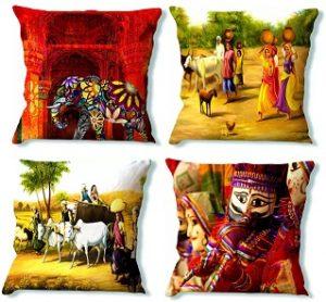 LA VERVE Printed Cushion Cover for Rs.79 – Flipkart