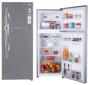 LG 260 L 4 Star Frost Free Double Door Refrigerator(GL-I292RPZL.APZZEBN, Shiny Steel, Inverter Compressor) for Rs.23,499 – Amazon
