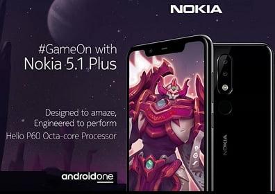 Nokia 5.1 Plus (32 GB)  (3 GB RAM) for Rs.10,499 – Flipkart