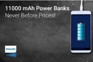 Philips 11000 mAh Power Bank (DLP6006B) for Rs.799 @ Flipkart (Limited Period Deal)