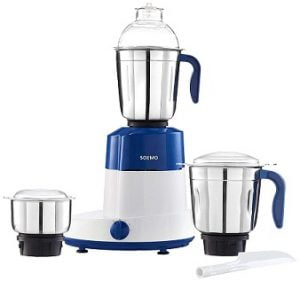 Solimo Maxima 750-Watt Mixer Grinder with 3 Stainless Steel Jars for Rs.1999 – Amazon