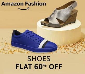 Amazon Fashion: Minimum 60% Off on Shoes for Men/ Women