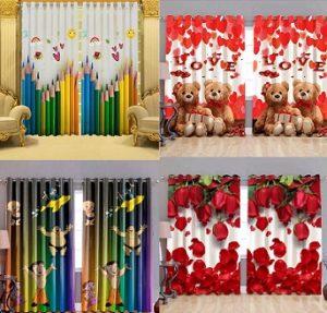 Digital Print Curtains (Doors, Windows, Long Doors) – Minimum 50% off – Flipkart