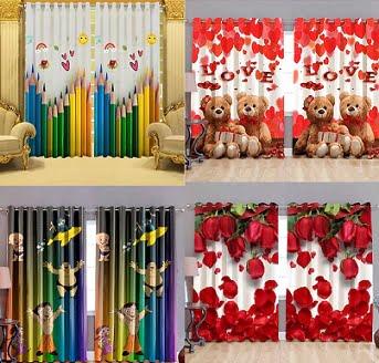 Digital Print Curtains (Doors, Windows, Long Doors) - Minimum 50% off @  Flipkart - Getfreedeals.co.in