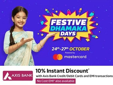 Flipkart Festive Dhamaka Sale Offers (24th – 27th October 2018)