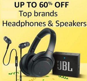 Headphone & Speakers – upto 70% off @ Amazon