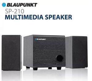 Blaupunkt SP-210 10 W Laptop/Desktop Speaker  (Black, 2.1 Channel) for Rs.999 – Flipkart