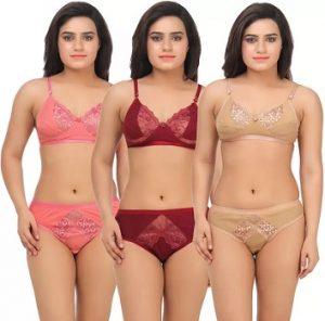Women's Lingerie Set Combo (set of 3) starts from Rs.269 (Minimum 50% off) – Flipkart