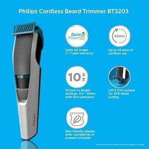 Philips DuraPower Beard Trimmer BT3203/15 – Cordless
