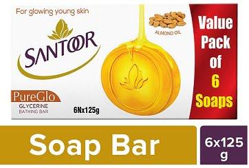 Santoor Glycerine PureGlo Soap (125X6)