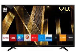 Vu Premium Smart 109cm (43 inch) Full HD LED Smart TV : Get Rs.3000 Extra off for Rs.20,499 – Flipkart