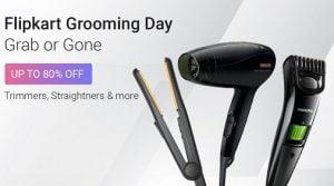 Flipkart Grooming Day  Grab or Gone  Upto 80% Off   Trimmers, Straightners & more