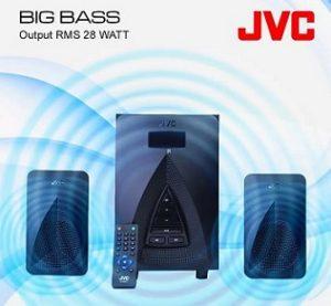 JVC XN21F 28 W Bluetooth Home Audio Speaker (Black, 2.1 Channel) worth Rs.5,999 for Rs.2,049 – Flipkart