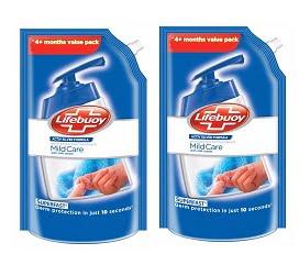 Lifebuoy Mild Care Milk Cream Hand Wash – 750 ml (Pack of 2) for Rs.198 – Amazon