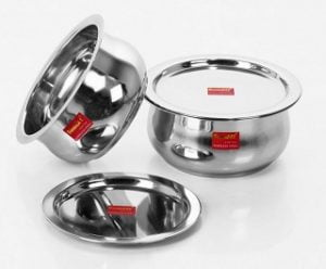 Sumeet Stainless Steel Non-Stick Patila(1100 ML & 1600 ML)-Set of 2 for Rs.394 – Pepperfry