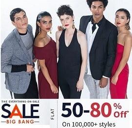 Ajio Everything On Sale (Big Bang): Flat 50-80% Off