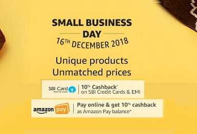Amazon Small Business Day: Exciting Offers on All Categories + 10% Extra Cashback