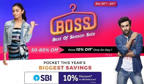 Flipkart Best of Season Sale: Men's | Women's & Kids Fashion Styles 50% – 80% Off + Extra 10% off with SBI Debit Card