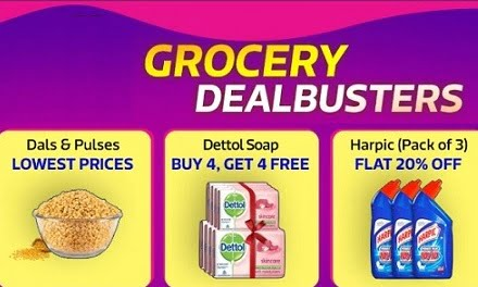 Flipkart Supermart: Get upto 60% off on Groceries & Home Essentials (Only for Bangalore, Hyderabad & Chennai)