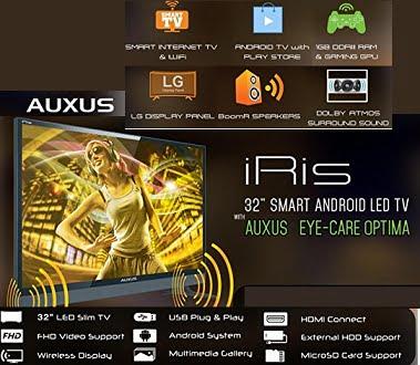AUXUS iRis Smart TVs Upto 45% off from Rs.11290 – Amazon (3 Yrs Warranty)