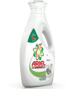 Ariel Matic Liquid Detergent, 750ml worth Rs.260 for Rs.195 – Amazon