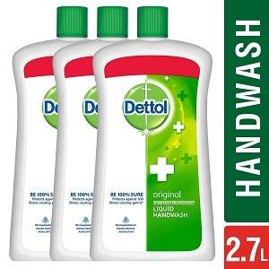 Dettol Original Liquid Soap Jar – 900 ml (Pack of 3) worth Rs.627 for Rs.408 – Amazon
