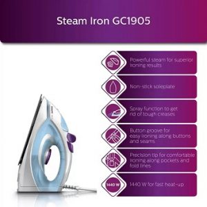 Philips GC1905 Steam Iron 1440 W worth Rs.1895 for Rs.1299 @ Flipkart