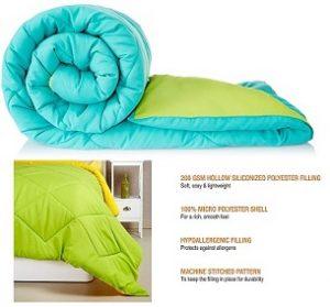 Amazon Brand – Solimo Microfibre Reversible Comforter, Single (200 GSM) for Rs.999 – Amazon