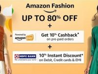 Amazon Great Indian Sale – Min 50% Off on Clothing, Footwear & Accessories + 10% Off with HDFC Cards + 10% Back as Amazon Pay Balance
