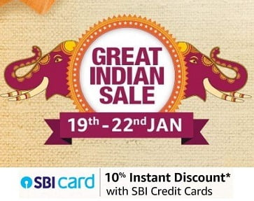 Amazon Great Indian Sale- Get Deep Discounted Deal (19th Jan to 22nd Jan'20)
