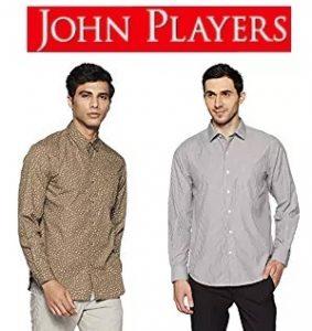 John Player Men Shirts Min 70% off