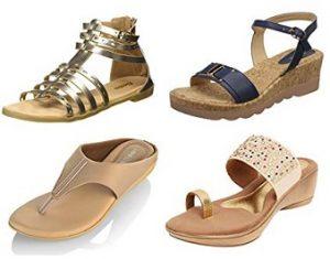 Ladies Fashion Sandals – Minimum 50% off @ Amazon