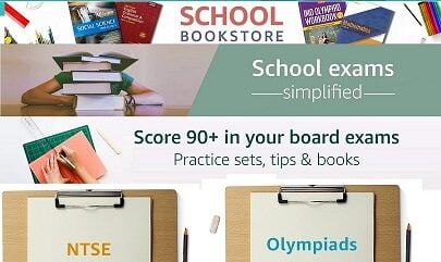 School Text Books, Guides & Question Banks for CBSE, ICSE, IGCSE, IB & State Boards upto 74% off @ Amazon