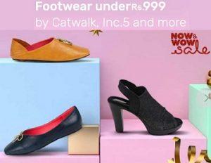 Women's Footwear (Catwalk, Inc.5, Mochi, Lavie & more) under Rs.999 – Tatacliq