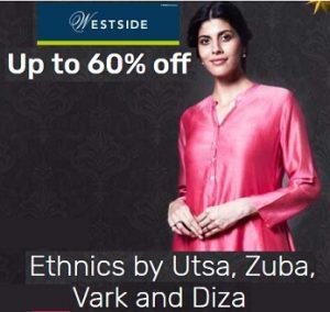 West Side Women's Ethnic Wear upto 60% off @ Tatacliq (Free Shipping)