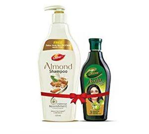 Dabur Almond Shampoo, 350ml + Free Amla Hair Oil, 275ml