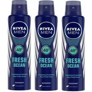 Nivea Men Fresh Ocean Deodorant Combo Body Spray – For Men  (450 ml, Pack of 3) for Rs.227 – Flipkart