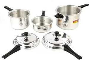 Prestige Popular Plus 2 L, 3 L, 5 L Induction Bottom Pressure Cooker