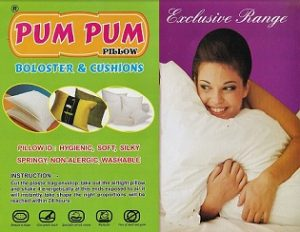 PumPum Microfiber Gusset Pillow, (18×27 Inches, Black & White) Set of 2 for Rs.499 – Amazon