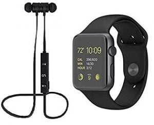 SAIELLIN Ellin Accessories Combo Pack of Bluetooth Wireless Magnetic Earphone + A1 SmartWatch for Samsung, Vivo, Xiaomi, Micromax, Gionee, Lenevo, iOS  for Rs.1035 – Flipkart