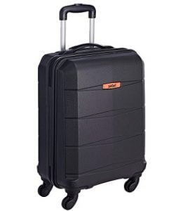Safari Polycarbonate 56 Ltrs Hardsided Carry On (REGLOSS ANTISCRATCH 4W 55 Black) for Rs. 1,725 – Amazon